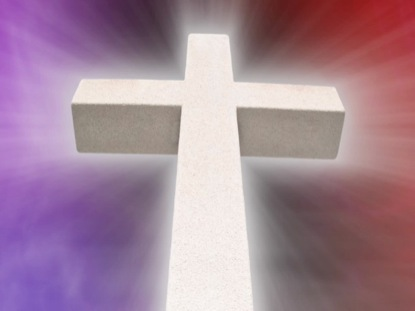 STONE CROSS PURPLE-RED