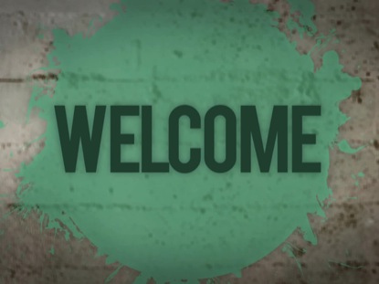 GRUNGE SPLATTER WELCOME