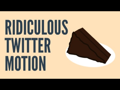 RIDICULOUS TWITTER MOTION
