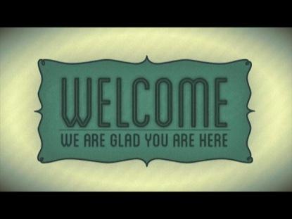 VINTAGE FRAME WELCOME
