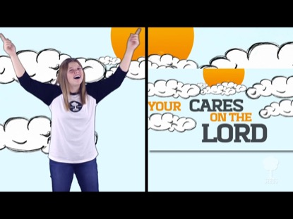 Cast Your Cares Hand Motions Video Worship Song Track with Lyrics | Seeds Family Worship | Preaching Today Media