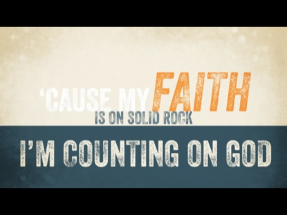 COUNTING ON GOD