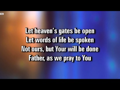 AS WE PRAY