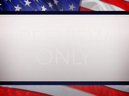 AMERICAN FLAG ANNOUNCEMENT STILL