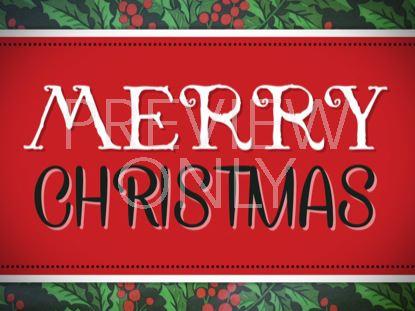 HOLLY MERRY CHRISTMAS STILL