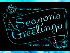 SEASONS GREETINGS BLUE