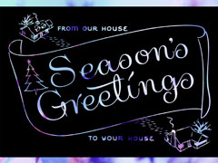 SEASONS GREETINGS PURPLE