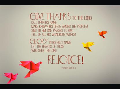 PSALM 105:1-3
