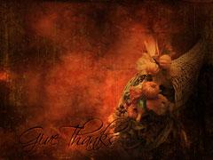 HORN O' PLENTY CORNUCOPIA TEXTURE: GIVE THANKS