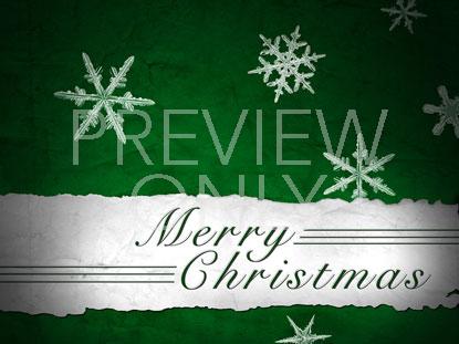 MERRY CHRISTMAS GREEN SNOWFLAKES