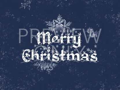 MERRY CHRISTMAS SNOWFLAKE DESIGN BLUE