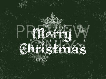 MERRY CHRISTMAS SNOWFLAKE DESIGN GREEN