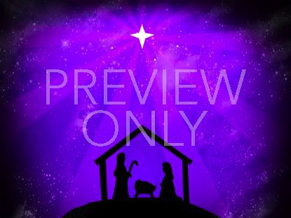 SILENT NATIVITY STARS PURPLE