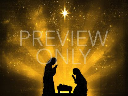 STARRY NIGHT NATIVITY GOLD
