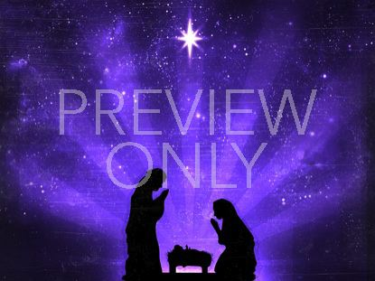 STARRY NIGHT NATIVITY PURPLE