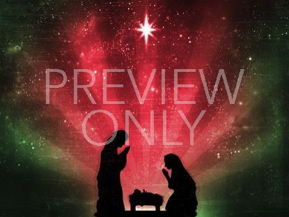 STARRY NIGHT NATIVITY RED AND GREEN