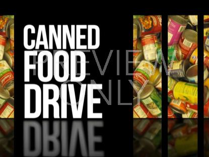ANNOUNCEMENTS 01 CANNED FOOD DRIVE STILL