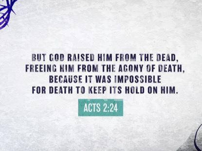 DEATH COULD NOT HOLD HIM SCRIPTURE STILL