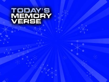 KIDZ 01 MEMORY VERSE STILL