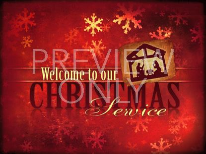 CHRISTMAS CELEBRATION MANGER RED WELCOME