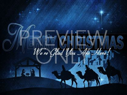 Christmas Manger Blue Merry Christmas | Christian Collages ...