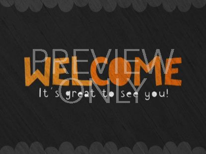 CUTE FALL WELCOME