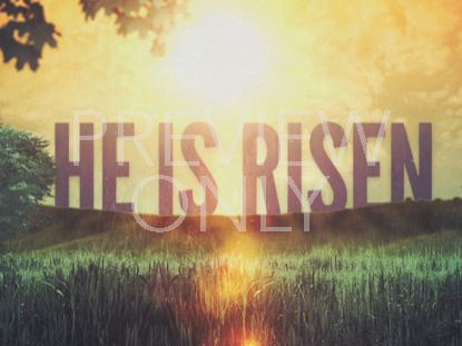 EASTER MORNING RISEN