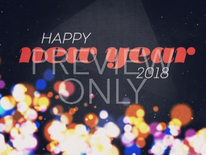 NEW SPACE HAPPY NEW YEAR 2018 STILL