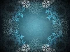 SNOWFLAKE WREATH BLUE