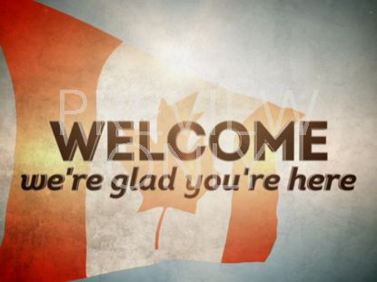 THE CANADIAN FLAG WELCOME STILL
