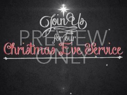 VINTAGE CHRISTMAS EVE INVITE TITLE STILL