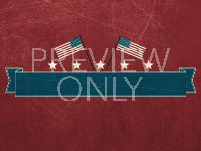 VINTAGE INDEPENDENCE DAY TITLE BLANK