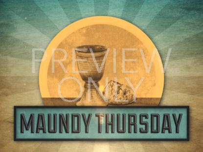 VINTAGE MAUNDY THURSDAY TITLE STILL
