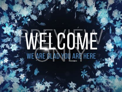 CHRISTMAS WONDERLAND WELCOME STILL