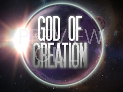 GOD OF CREATION TITLE