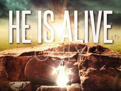 HE IS ALIVE TITLE STILL