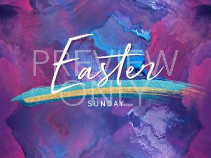PAINTED EASTER SUNDAY STILL