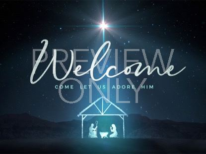 STARLIGHT NATIVITY WELCOME CHRISTMAS
