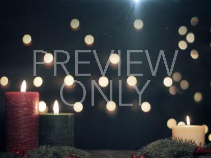 CHRISTMAS CANDLES BOKEH NIGHT STILL