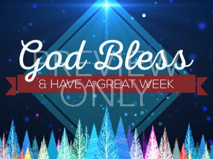 COLORFUL CHRISTMAS TREES GOD BLESS