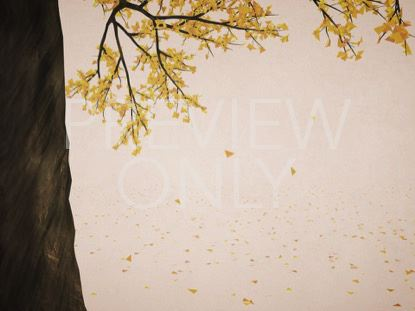 DIGITAL AUTUMN YELLOW TREE