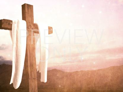 EASTER CROSS WHITE FABRIC BRIGHT