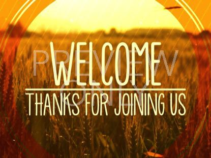 FALL HARVEST WELCOME