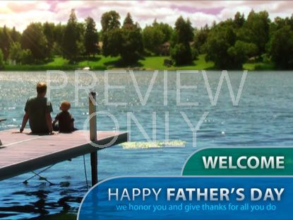 FATHERS DAY DOCK WELCOME