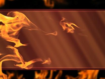 FLAMES RED GLASS FIRE STILL