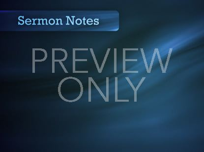 SERMON NOTES BLUE