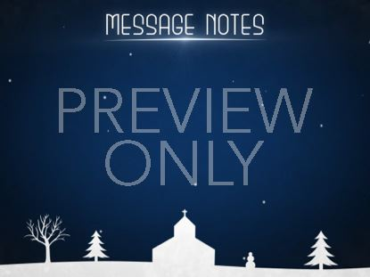 WINTER SNOW MESSAGE NOTES