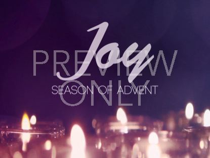 ADVENT CANDLES JOY STILL
