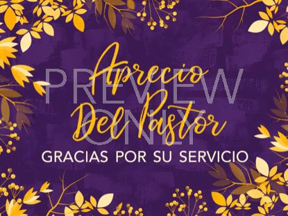 AUTUMN BREEZE PASTOR APPRECIATION STILL SPANISH