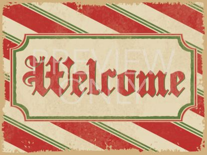 CANDY CANE WELCOME STILL